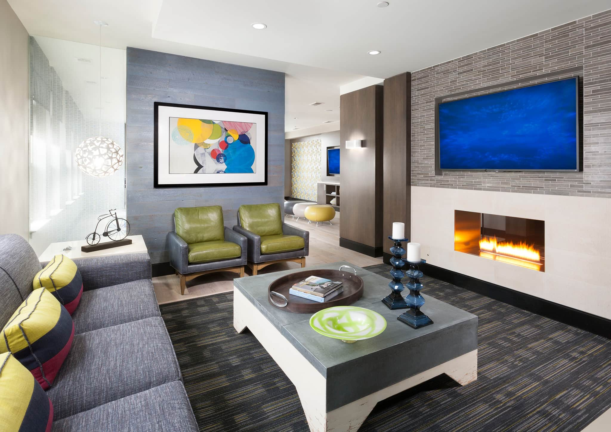The Swift at Petworth Metro clubroom fireplace